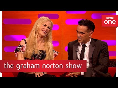 Nicole Kidman ruffled by Alexander Skarsgard kiss pic!  The Graham Norton : 2017  BBC One