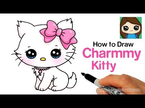 How To Draw A Cute Cat Easy Sanrio Charmmy Kitty Youtube