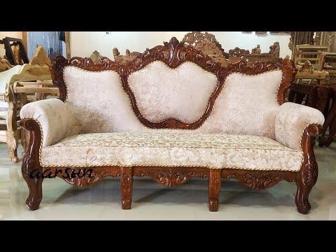 140 Hand Carved Wooden Sofa Set Premium, Furniture Sofa Set