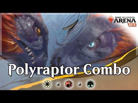 Infinite Polyraptor Combo | Naya Dinosaurs Tribal | MTG Arena Gameplay and Deck Guide