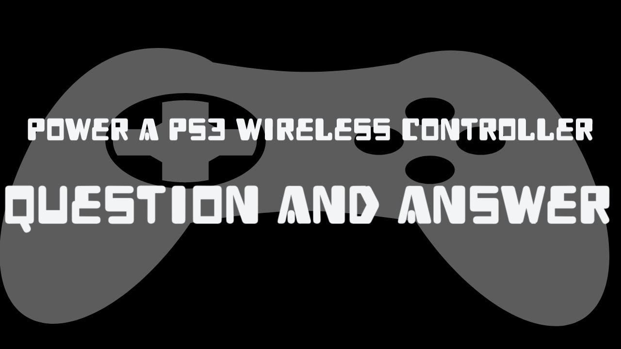 Power A PS3 Wireless Controller Q n A for both videos