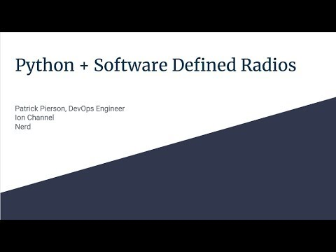 Image from Python + Software Defined Radios
