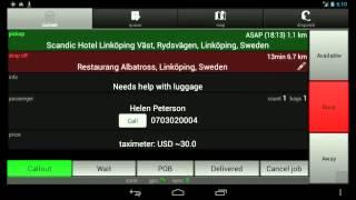Taxi Dispatch system - Smartphone app screenshot 2