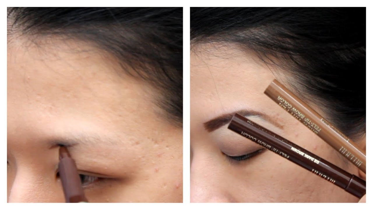 How To Drawfill Eyebrows With Milani Brow Tint Pen Youtube