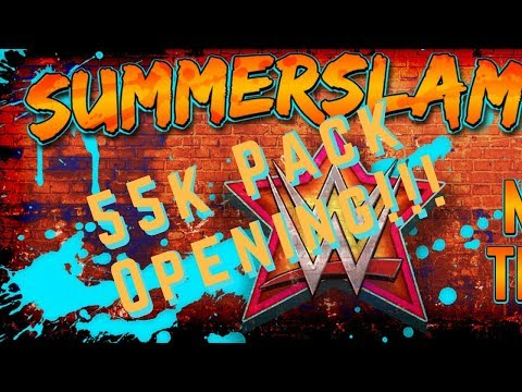 55,000 Credit Summerslam Pack Opening!! WWE Supercard