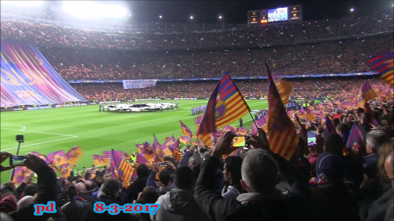 Barcelona - PSG (6 - 1) Winning Moment Sergi Roberto Goal 8 Mar 2017