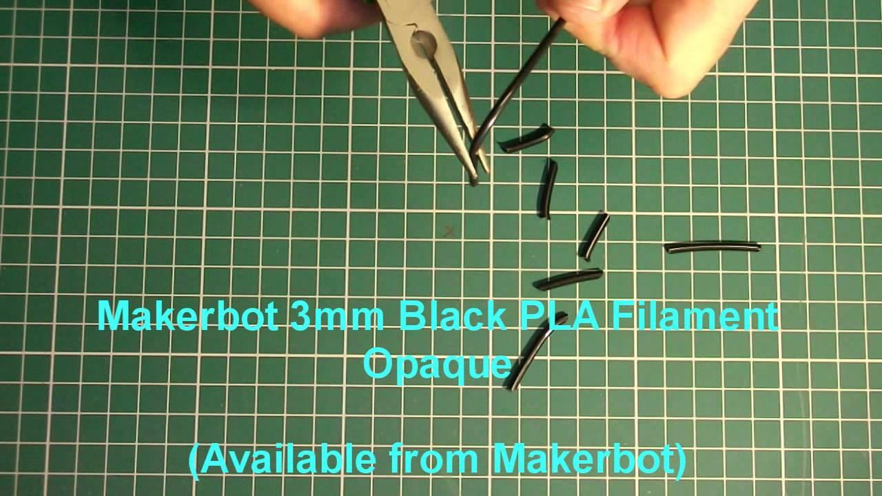 pla reprap plastic filament test part 1 youtube. Black Bedroom Furniture Sets. Home Design Ideas
