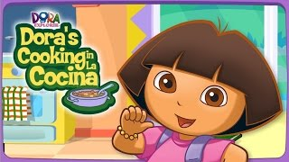 Cooking Games for Girls - Dora Cooking In La Cocina Game  STEW CHICKEN Video