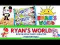 Free Ryans World Party Favors Rice Krispie Treats Wrapper| Ryans world birthday party ideas