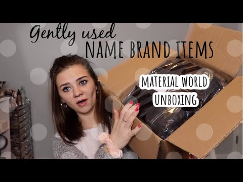 MATERIAL WORLD UNBOXING| THRIFTED NAME BRAND ITEMS SUBSCRIPTION BOX| NAME BRAND ITEM HAUL