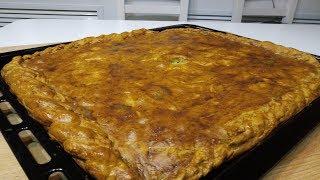 Пирог с мясом.Очень вкусное тесто.Без дрожжей.Готовьте сразу два.