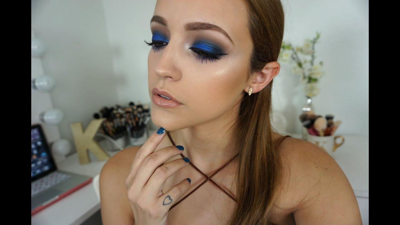 Metallic Blue Eyes Makeup Tutorial Youtube