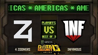 4Zoomers vs Infamous Game 3 - Monster Energy Dota Summit 13 Online NA/SA: Losers' Round 2 w/ SUNSfan