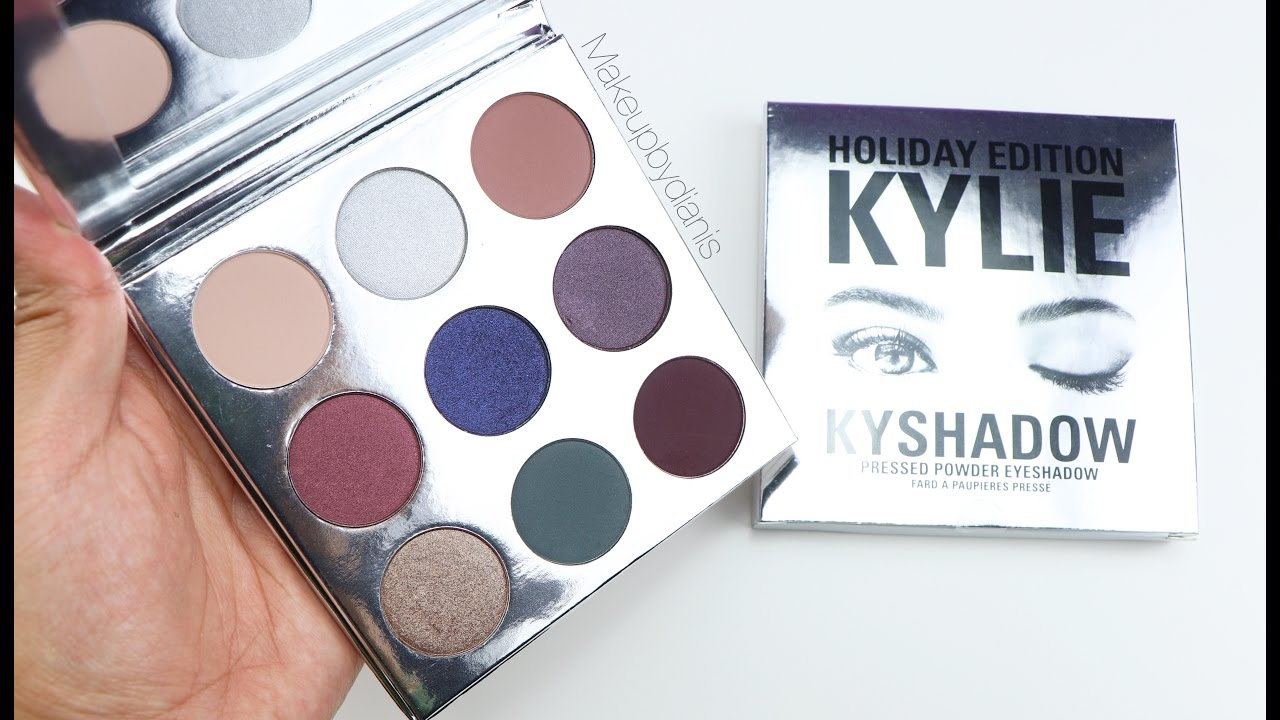 Kylie Cosmetics Kyshadow Holiday Palette Swatches Youtube