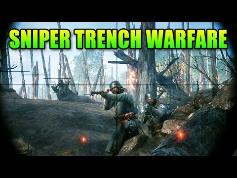 Battlefield 1 Sniper Trench Warfare | BF1 Squad Gameplay