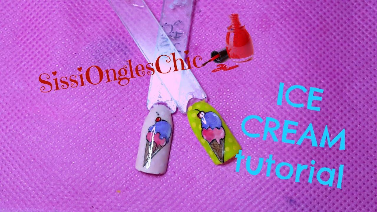 ice cream nail art tutorial tecniche