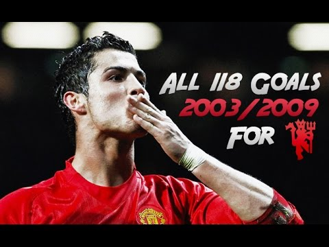 Cristiano Ronaldo ● All 118 Goals for Manchester United 2003/2009 ● With English Commentary | HD