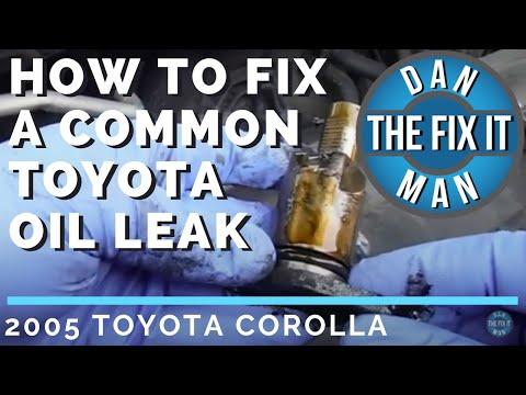 2005 TOYOTA COROLLA – COMMON OIL LEAK – TIMING CHAIN TENSIONER O-RING REPLACEMENT – DIY