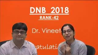 #DNB 2018 TOPPER RANK-42 #Dr. Vineeta #damsrocks