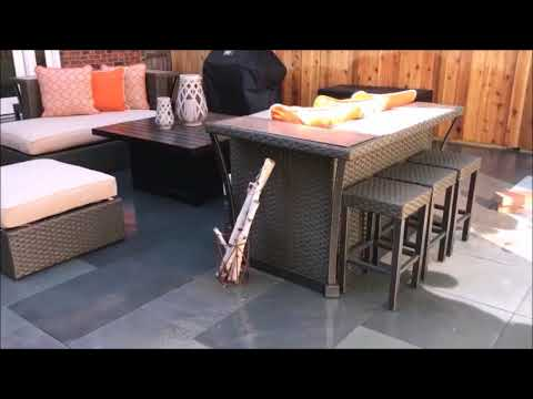 Attirant VEGAu0027S Brickpaving Blue Stone Thermal Heated Patio