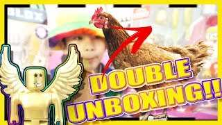 UNBOXING ROBLOX CHICKEN SIMULATOR GAME PACK & THE GOLDEN BLOXY AWARD!