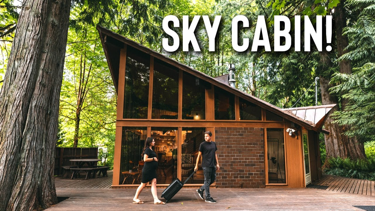 *Newly Renovated* Mid Century Airbnb Cabin! | Sky Cabin Tour!