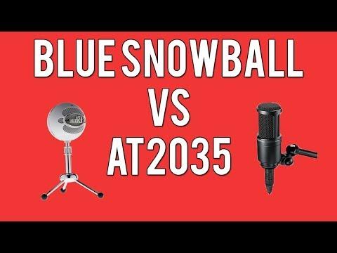 NEW MIC! Blue Snowball vs Audio Technica AT2035 Test