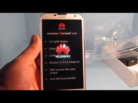UNBOXING Huawei ASCEND G730 (HD)