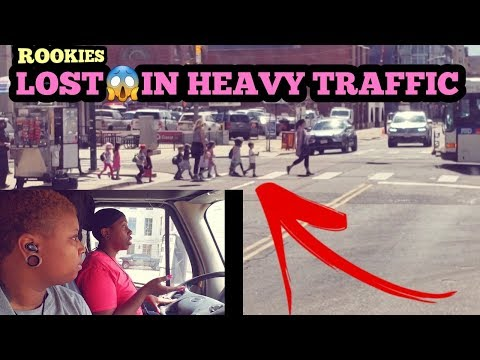 Rookie Truck Drivers LOST in Heavy Traffic😱Downtown Denver,Colorado |CRST EXPEDITED Tractor  traile