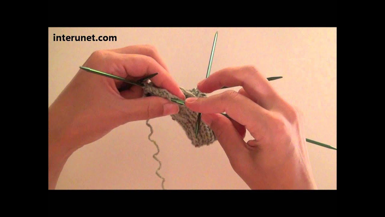 How To Knit Baby Socks Video Tutorial Youtube
