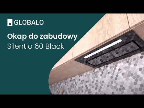 Okap do zabudowy GLOBALO Silentio 60.1 Black | Ciche i wydajne okapy GLOBALO