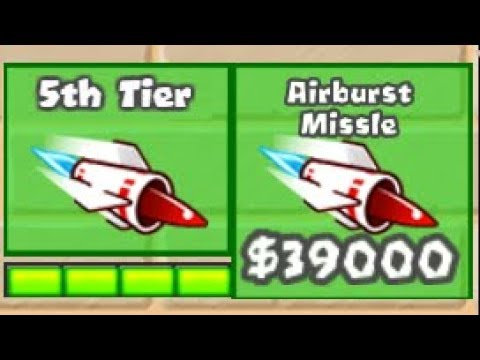 5th Tier Upgrades Mod - Airburst Missile! | Bloons TD Battles 5th Tier Sub! (BTD Battles)