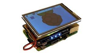 Raspberry Pi 3.5 Inch Touch Display + 2500mAh Lithium Battery - portable Raspberry Pi 3