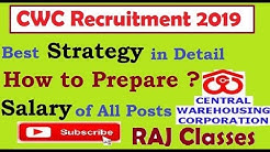 Strategy for Superintendent and Junior Superintendent of CWC || Salary of all posts