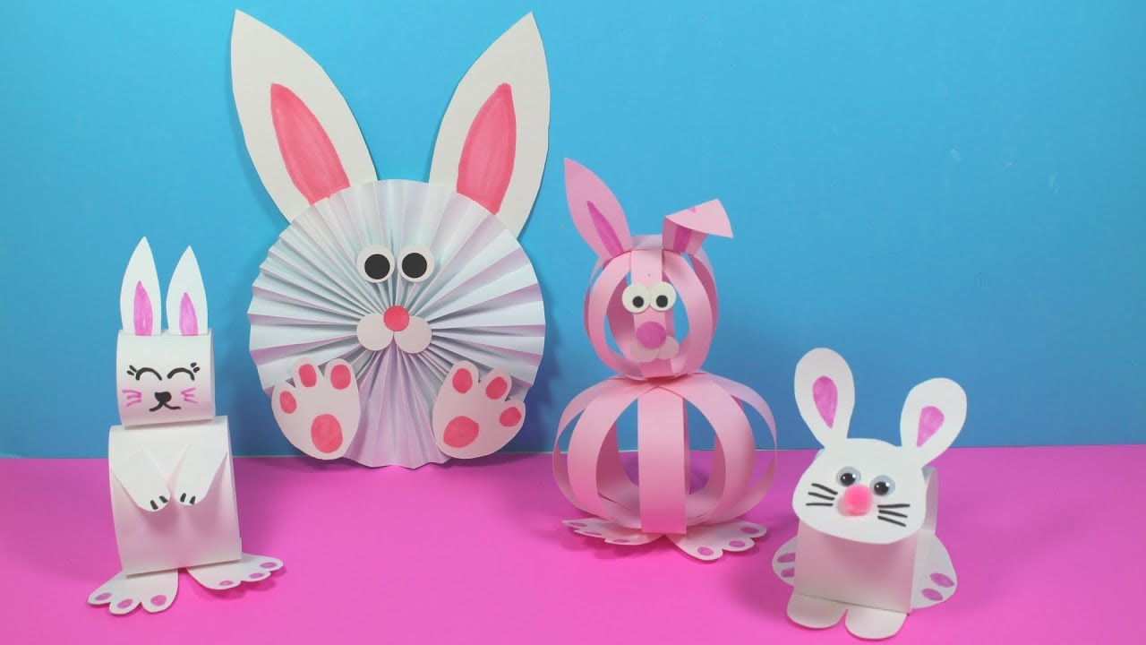Easy Paper Bunny Craft Ideas Paper Crafts For Kids Youtube