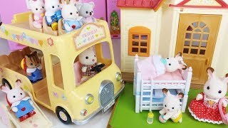 Rabbit house and car toys with baby doll play - 토이몽
