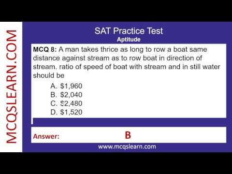 SAT Practice Test - Aptitude Exam Preparation