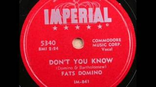 Watch Fats Domino Dont You Know video