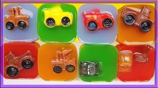 Learn Colors with Disney cars Mcqueen in colored jelly and Johny Johny nursery rhymes
