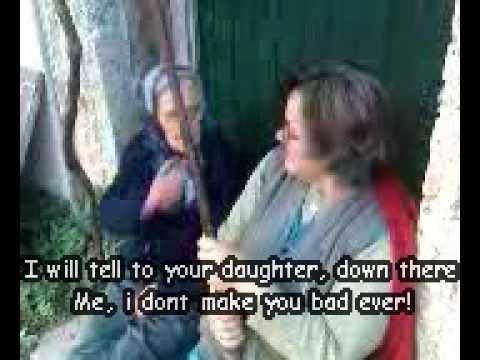 Fight between 2 Greek old Women with subs[ part 1] (tsakos)