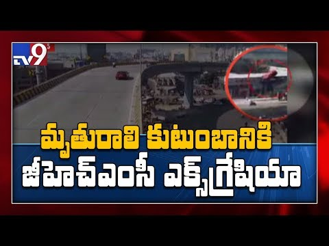 Car flies off flyover, crushes housewife - TV9