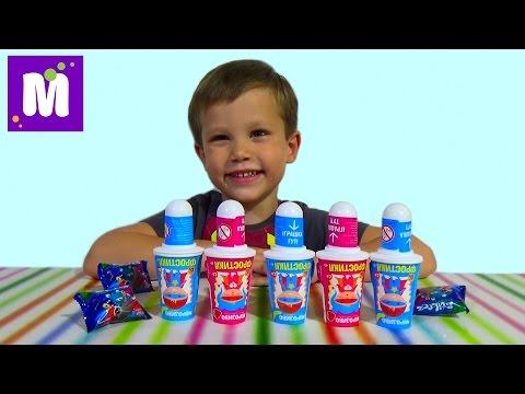 Мороженое с игрушкой сюрприз прилипучки Стикизы распаковка