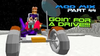 Modded Minecraft - Driving a Moon Buggy on the Moon [44]