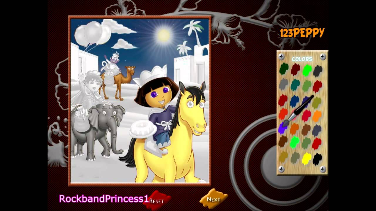 Dora Paint And Color Games Online - YouTube