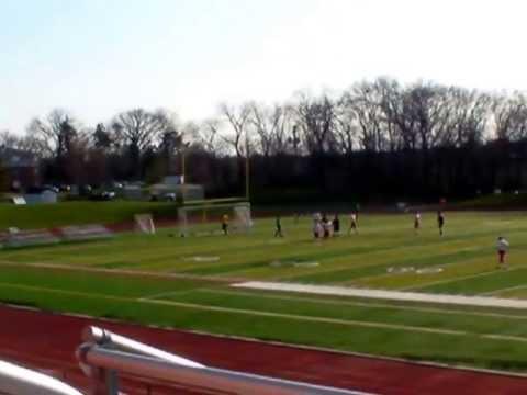 Roosevelt U soccer against St Benedictine U Leo Goal