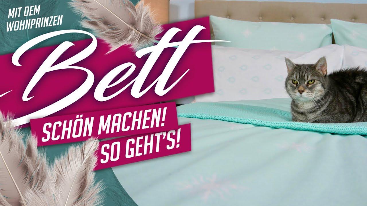 Bett schön machen - so gehts! Deko Tipp #Wohnprinz #Werbung - YouTube