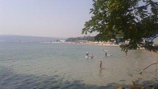 Болгария.Пляж Варны.Цены на зонтики и шезлонги.Прайс плавательного комплекса