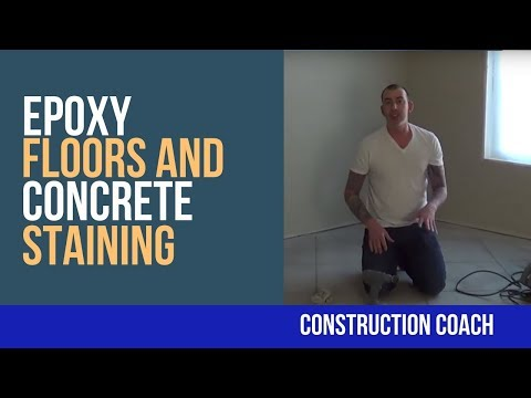 Epoxy Floors and Concrete Staining - DIY