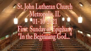 01-10-2021 In the Beginning God...