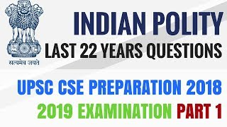 Indian Polity - Previous Year Questions - Last 22 Years - UPSC CSE/ IAS 2018 2019 thumbnail